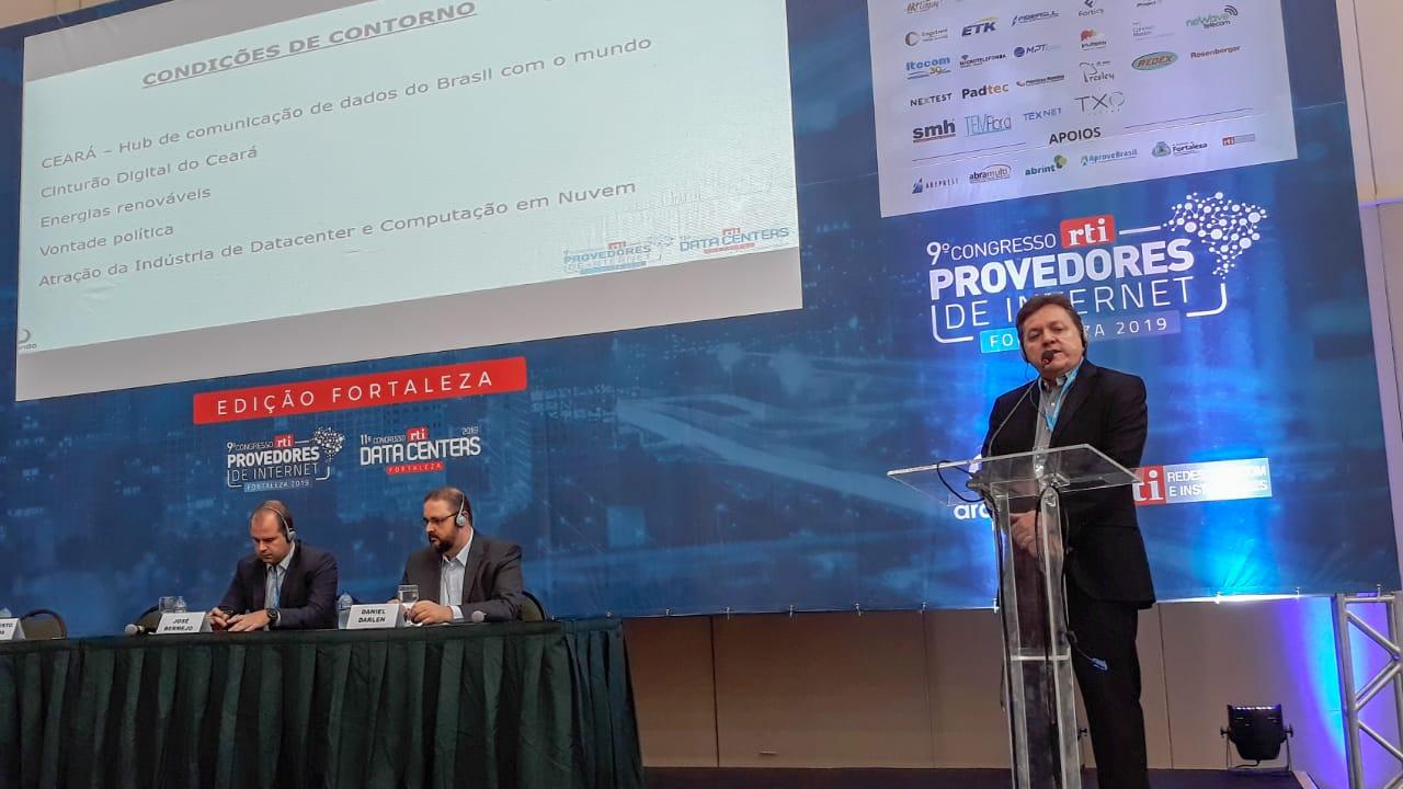"""ETICE aborda o tema """"Ceará rumo à nuvem e digitalização"""" em Congresso RTI de Provedores e Data Center"""