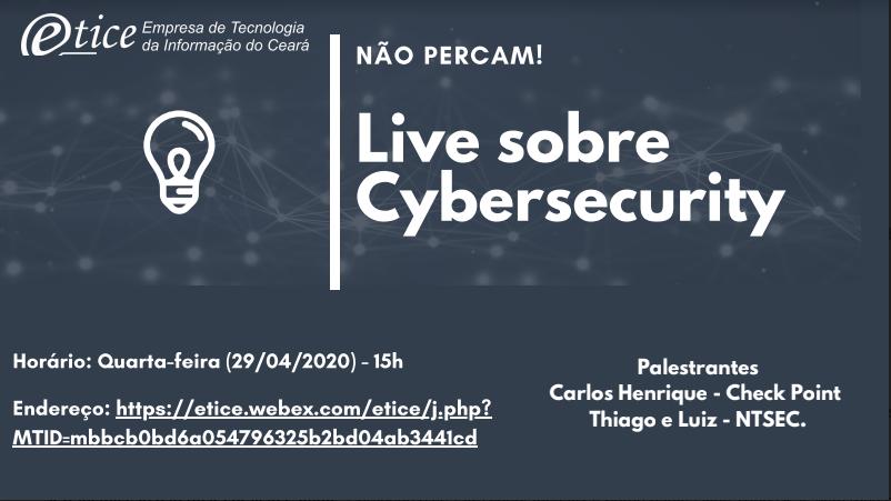 Etice realizará live sobre Cybersecurity