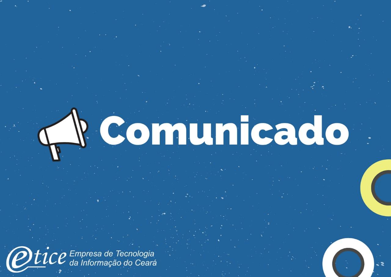 Comunicado – Tramitação de Processos