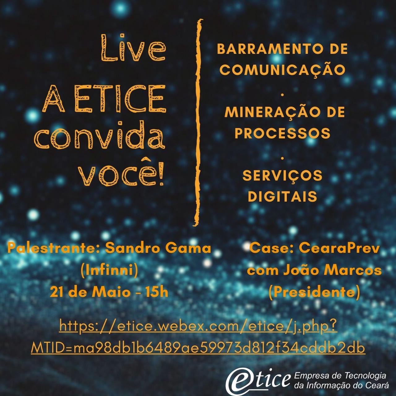 Etice promoverá live sobre a construção da transformação digital